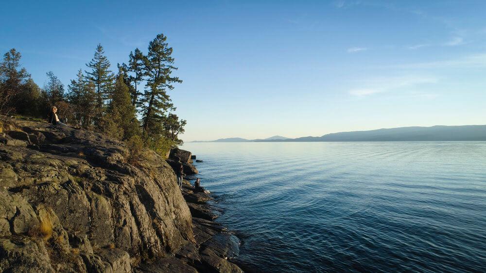 lakeside cliff